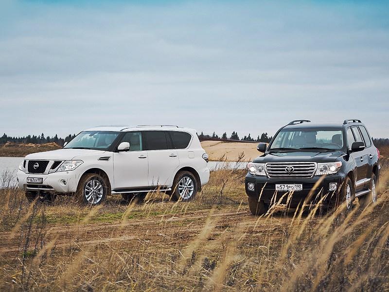 Вместительные внедорожники Toyota Land Cruiser и Nissan Patrol: кто лучше